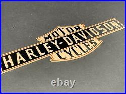 Vintage Early Harley Davidson Motorcycle 12 Diecut Metal Logo Sign Gas Oil Sign