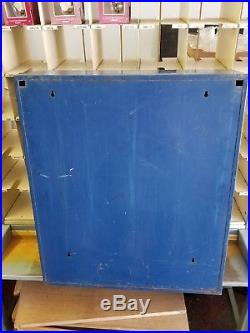 Vintage Echlin/napa Nascar Metal Wall Cabinet Good Condition Blue