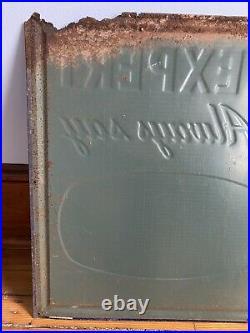 Vintage Esskay Meat Products Sign Parker Metal Decorating Co Baltimore MD