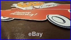 Vintage Esso Gasoline Porcelain Large Gas Oil Metal Service Ad Pump Plate Sign