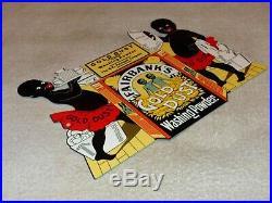 Vintage Fairbank's Gold Dust Washing Powder Twins Black Americana 12 Metal Sign