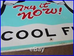 Vintage Freezie Soda Pop Sign Metal Gas Station Old Rare 22 x 14