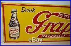 Vintage GRAPICO Beverage Metal Sign E. G Sign Co. Marietta GA 30 VERY RARE