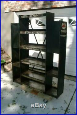 Vintage Gargoyle Mobil Oil Mobiloil Large Metal Display Rack Advertising Gas 30s