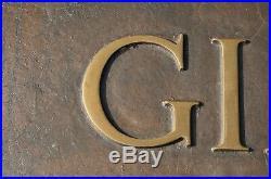 Vintage Gimbel Brothers Large Metal Sign Milwaukee Wisconsin