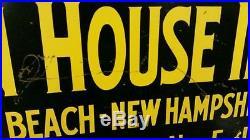 Vintage Hampton Beach New Hampshire Ocean House Inn Metal Flange Sign