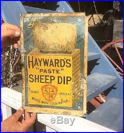 Vintage Haywards Sheep Insecticide Farm Ranch Metal Sign With Gr8 Graphic