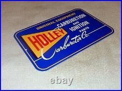 Vintage Holley Carburetor & Auto Car Ignition Parts 12 Metal Gasoline Oil Sign