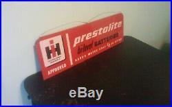 Vintage IH International Harvester Prestolite Batteries Metal Sign