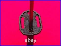 Vintage Japan Samurai Katana Sword Sign Military Blade Metal Sheath Copper Handl