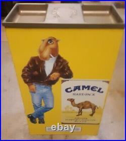 Vintage Joe Camel Cigarette Advertising Metal Sign in Store 24 Standing Ashtray