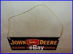 Vintage John Deere Farm Tractor Implement 17 Porcelain Metal Gasoline Oil Sign