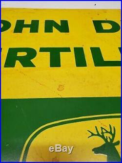 Vintage John Deere Fertilizer Metal Sign Farm Agriculture Advertising 26 x 18