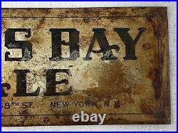 Vintage KIPS BAY ALE Sign 1930's Metal Beer ADVERTISING NYC Brewery RARE