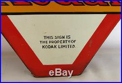 Vintage Kodak Verichrome Film Advertising Porcelain Metal Sign Double Side