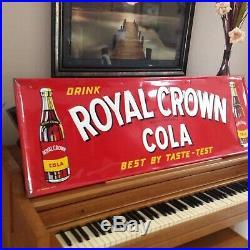 Vintage Large 1951 RC Cola Soda Pop Embossed 54x18 Metal Sign