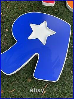 Vintage Large Toys R Us Store Shop Sign Signage Metal Letters Babies R Us
