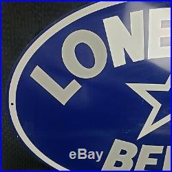 Vintage Lonestar Beer Metal Sign San Antonio Texas Rare 35 Lone Star