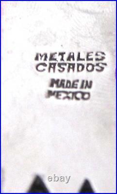 Vintage Los Castillo'METALES CASADOS' Handcrafted Eagle and Warrior Necklace