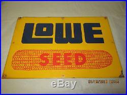 Vintage Lowe Hybrid Seed Corn Metal Farm Sign