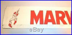 Vintage Marvel Comics Book Rack Sign Metal Sign Only Last One