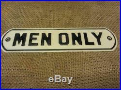 Vintage Men Only Embossed Metal Sign Old Antique Store Rest Room Signs 10004