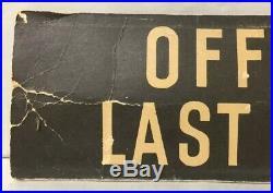 Vintage Metal Church Register Of Attendance Offering Sign Board