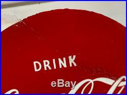 Vintage Metal Coca Cola Sign Coca Cola Foutain Service Sign 1948 Large 50x16