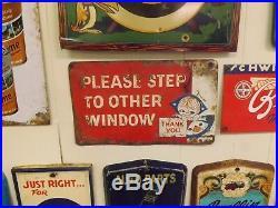 Vintage Metal Dairy Queen Little Dutch Girl Sign 1960's 12 x 8