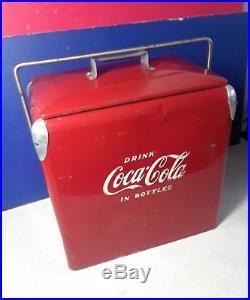 Vintage Metal Drink Coca-Cola in Bottles Cooler Action MFG. Co