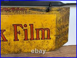 Vintage Metal Kodak Film Sign, 1914, Autographic, with Original Bracket