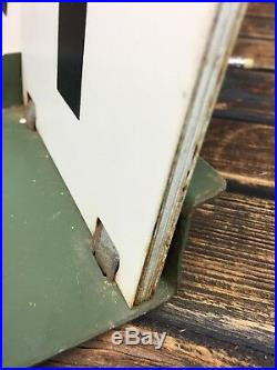 Vintage Metal Numbers Made in Poland Industrial Scoreboard Salvaged Flipchart
