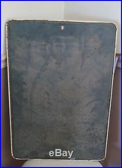 Vintage Metal PEPSI Sign Menu Tin Restaurant Chalk Board Soda Say Pepsi Please