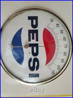 Vintage Metal Pepsi Cola Thermometer Say Pepsi Please