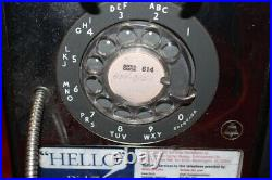 Vintage Metal Rotary Dial Coin-Op Pay Phone Payphone Telephone Sign WithDoor Key