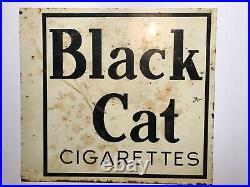 Vintage Metal Sign Black Cat Cigarettes (Double sided). 3