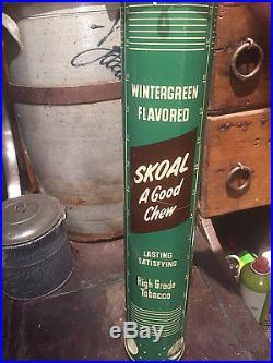 Vintage Metal Skoal Snuff Chew Tobacco Can Metal Display dispenser Sign NICE 1
