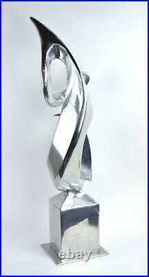 Vintage Mid-Century Modern Abstract Biomorphic Form Metal Sculpture Bill Keating