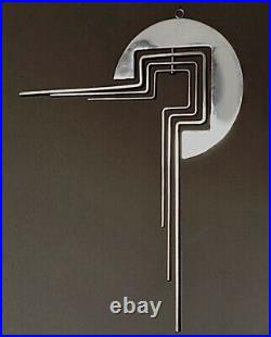 Vintage Mid-Century Stainless Steel Kinetic Mobile Sculpture 16 by FELICIANO