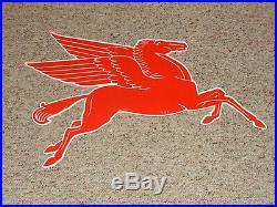 Vintage Mobil Mobilgas Pegasus Horse 29 Porcelain Metal T-53 Gasoline Oil Sign