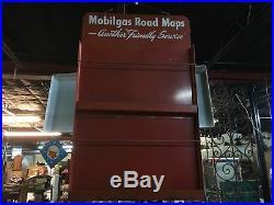 Vintage Mobilgas Mobil Gas STATION Oil PEGASUS METAL ROAD MAP DISPLAY SIGN