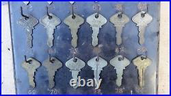 Vintage Model T Ford NUMBERED KEY DISPLAY Original 24 Genuine Ford Keys Script