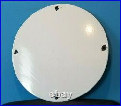 Vintage Moon Eyes Automobile Porcelain Gas Service Pump Plate Metal Ad Sign