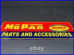 Vintage Mopar Parts And Services Metal Sign Chrysler Corporation Dodge Plymouth