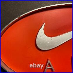 Vintage NIKE AIR Advertising Display Sign Swoosh Logo Rare 3-D Metal 9