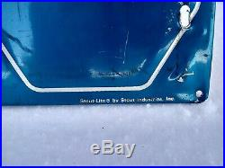 Vintage Napa Auto Parts Embossed Metal Stout Sign Garage Service Station 35X35