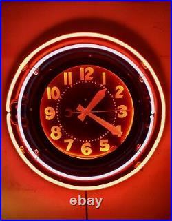 Vintage Neon Clock 26 Sign Great Display