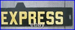 Vintage New York Subway Train Low-V Metal Destination Sign 7th Avenue Express
