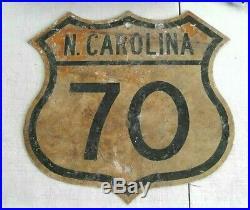 Vintage North Carolina Highway 70 16x16 Authentic Metal Sign Home Of NASCAR