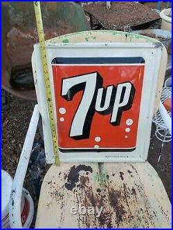Vintage Old 7UP Metal Sign 1962 19 1/2 X 17 1/2 Made In USA